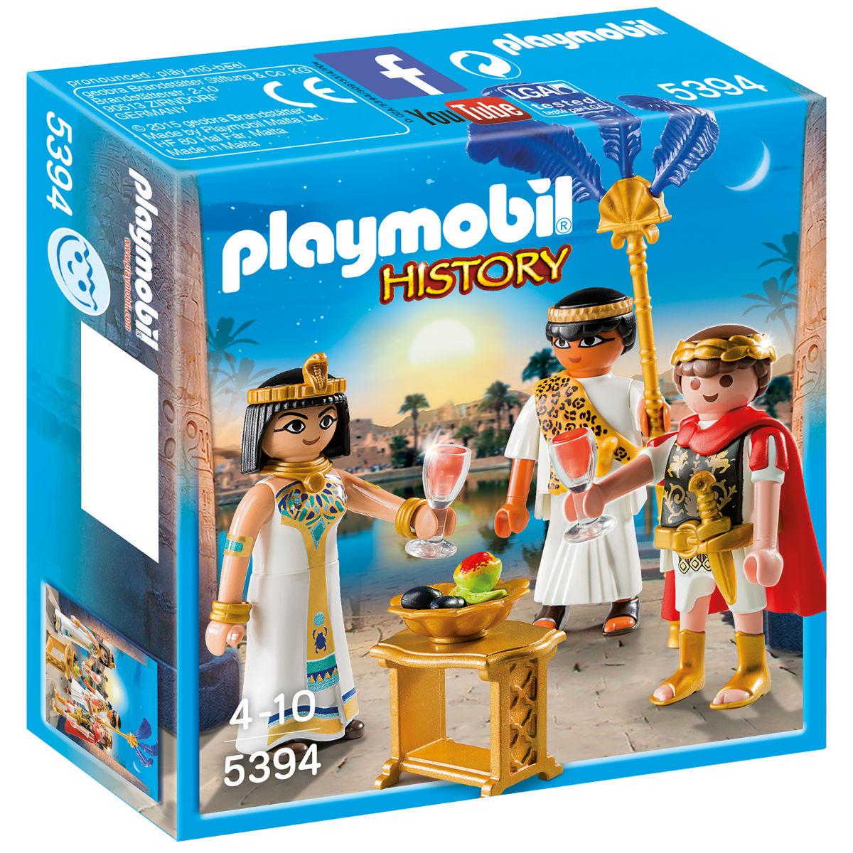 Playmobil Конструктор Римляне и Египтяне: Цезарь и Клеопатра, Мальта  - купить со скидкой