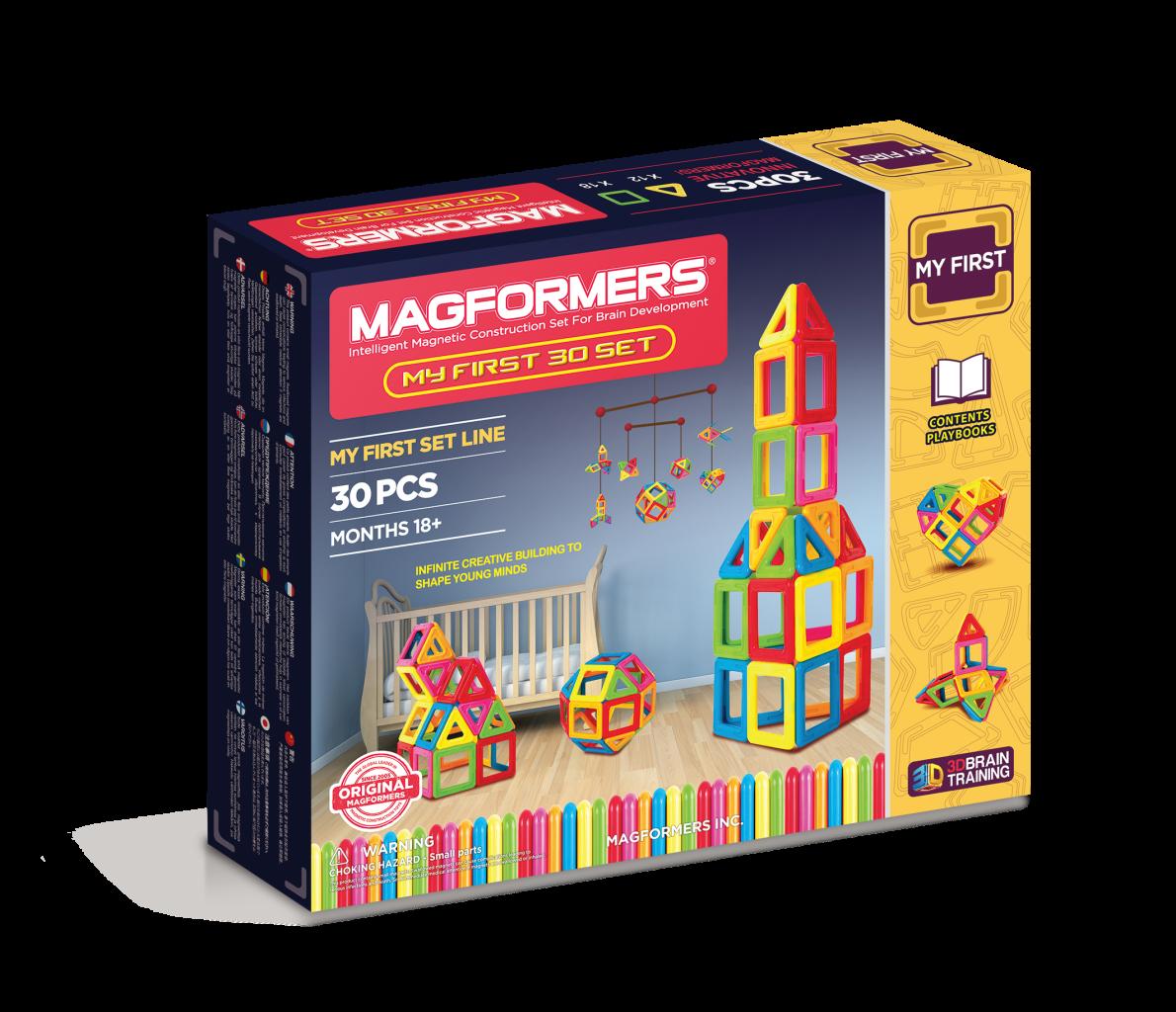Купить MAGFORMERS Мой первый Магформер | 30702001 (63107) конструктор магнитный 30 деталей, Китай