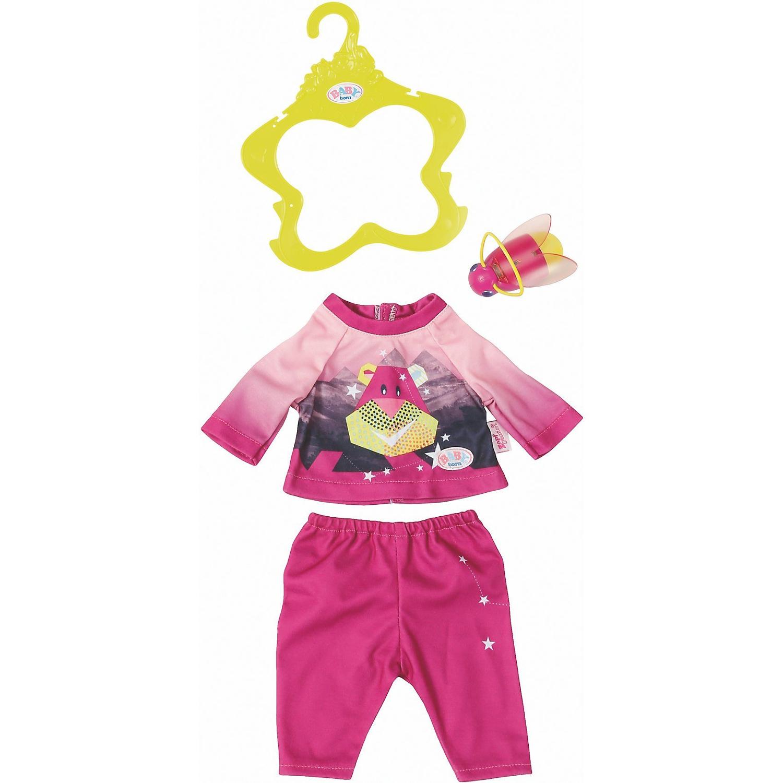 Baby born Удобный костюмчик и светлячок-ночник 43 см, розовый