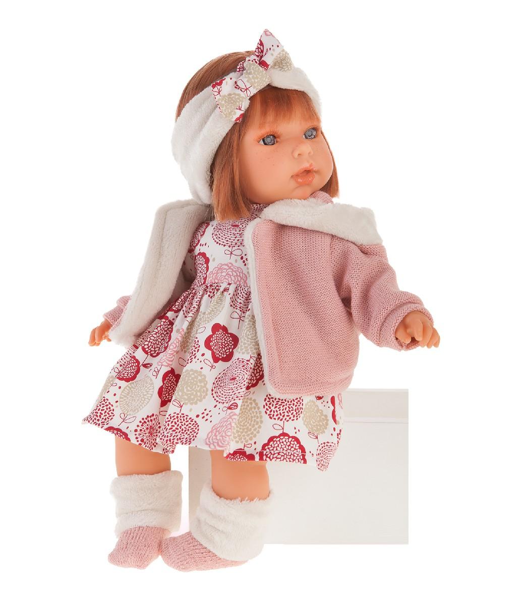 Купить Antonio Juan 1561P Озвученная кукла Валентина в розовом, 37 см, Испания