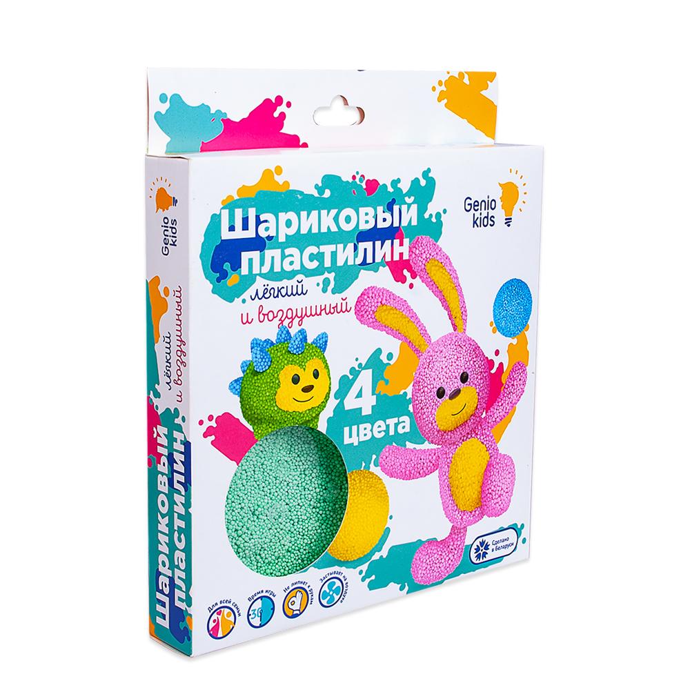 Купить GENIO KIDS-ART Набор для детской лепки Шариковый пластилин 4 цвета , Белорусь