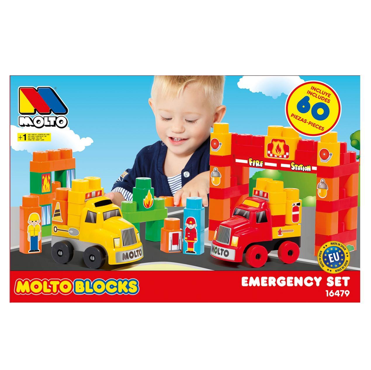 Купить Конструктор Molto Blocks Грузовые машинки , 60 деталей, Испания