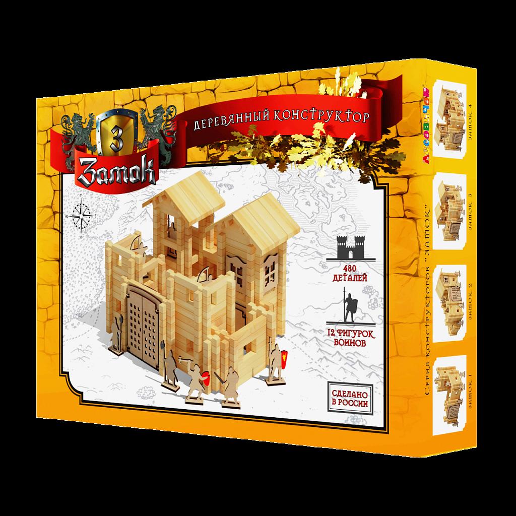 Купить ЛЕСОВИЧОК Конструктор Замок №3 набор из 480 деталей les 035, Лесовичок, Россия