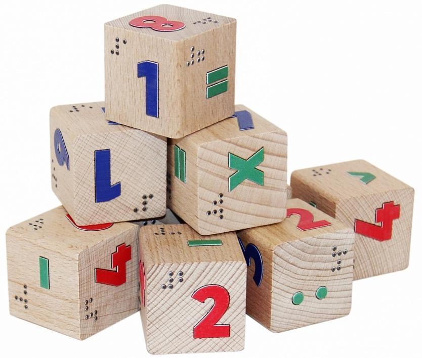 Купить Кубики КРАСНОКАМСКАЯ ИГРУШКА КУБ-17 Цифры со шрифтом Брайля, Краснокамская игрушка, Россия