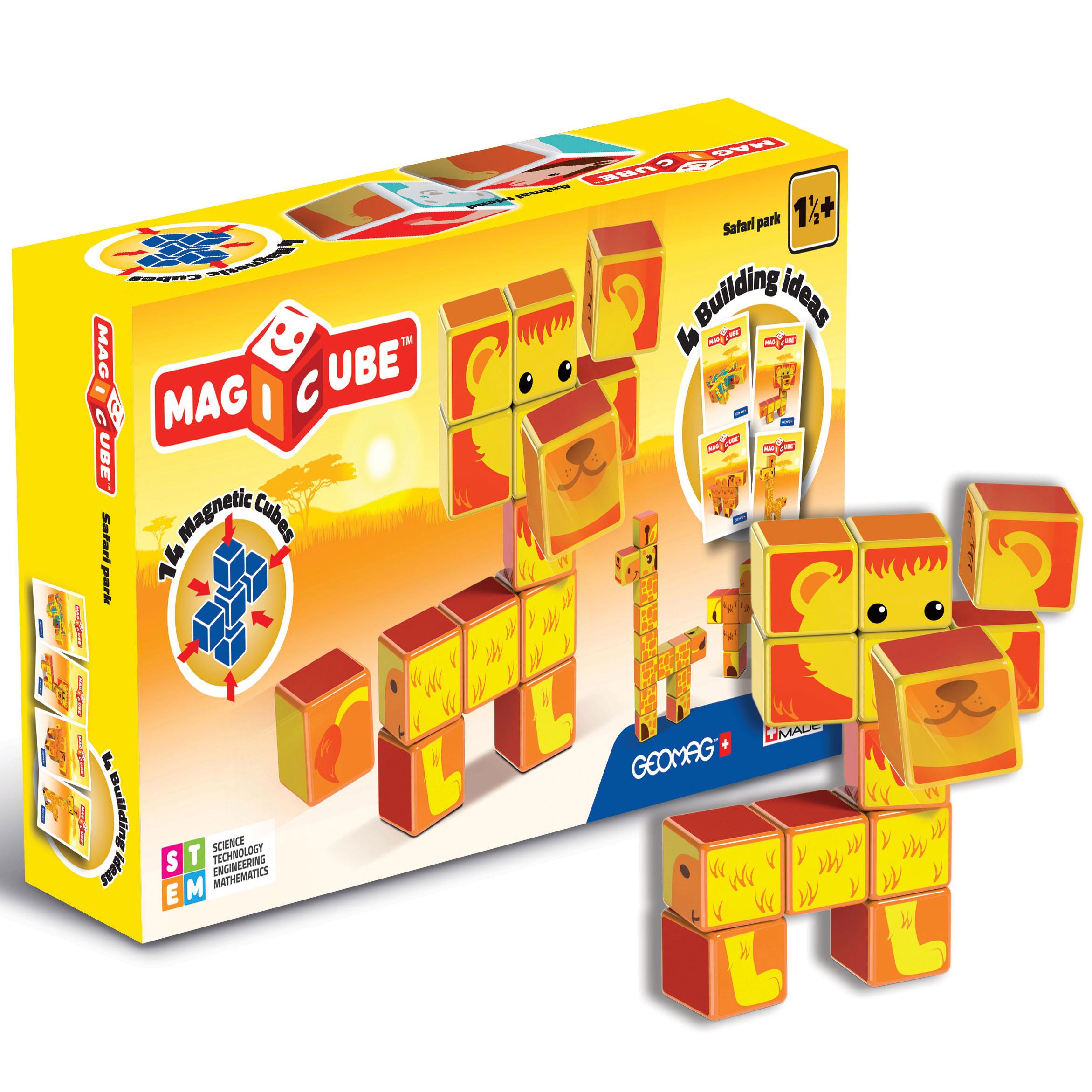 Купить Geomag Магнитный конструктор MagiCube Сафари-парк , 16 деталей, Швейцария