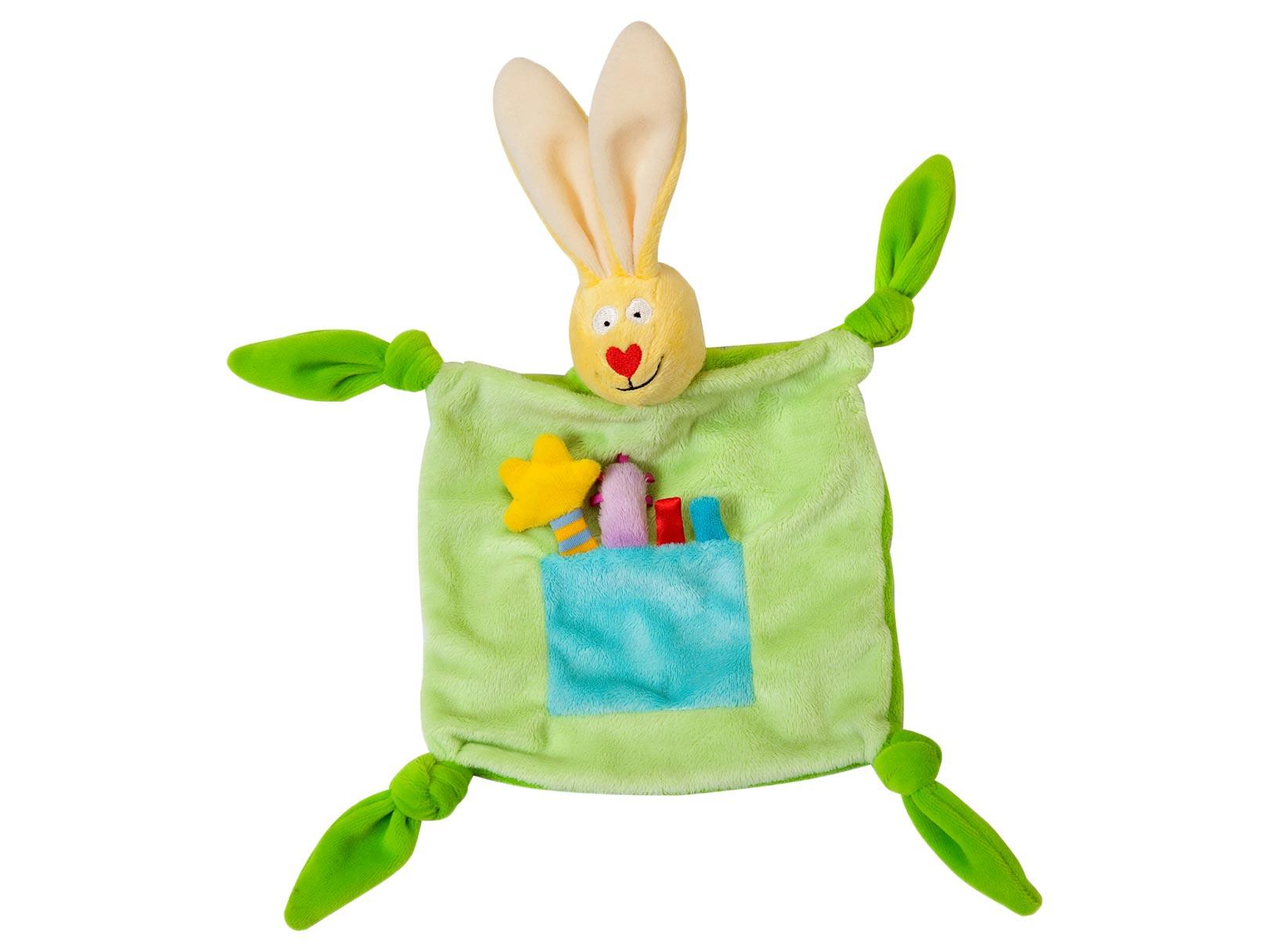 Купить Taf Toys Платочек-игрушка Кролик , зеленый, Китай