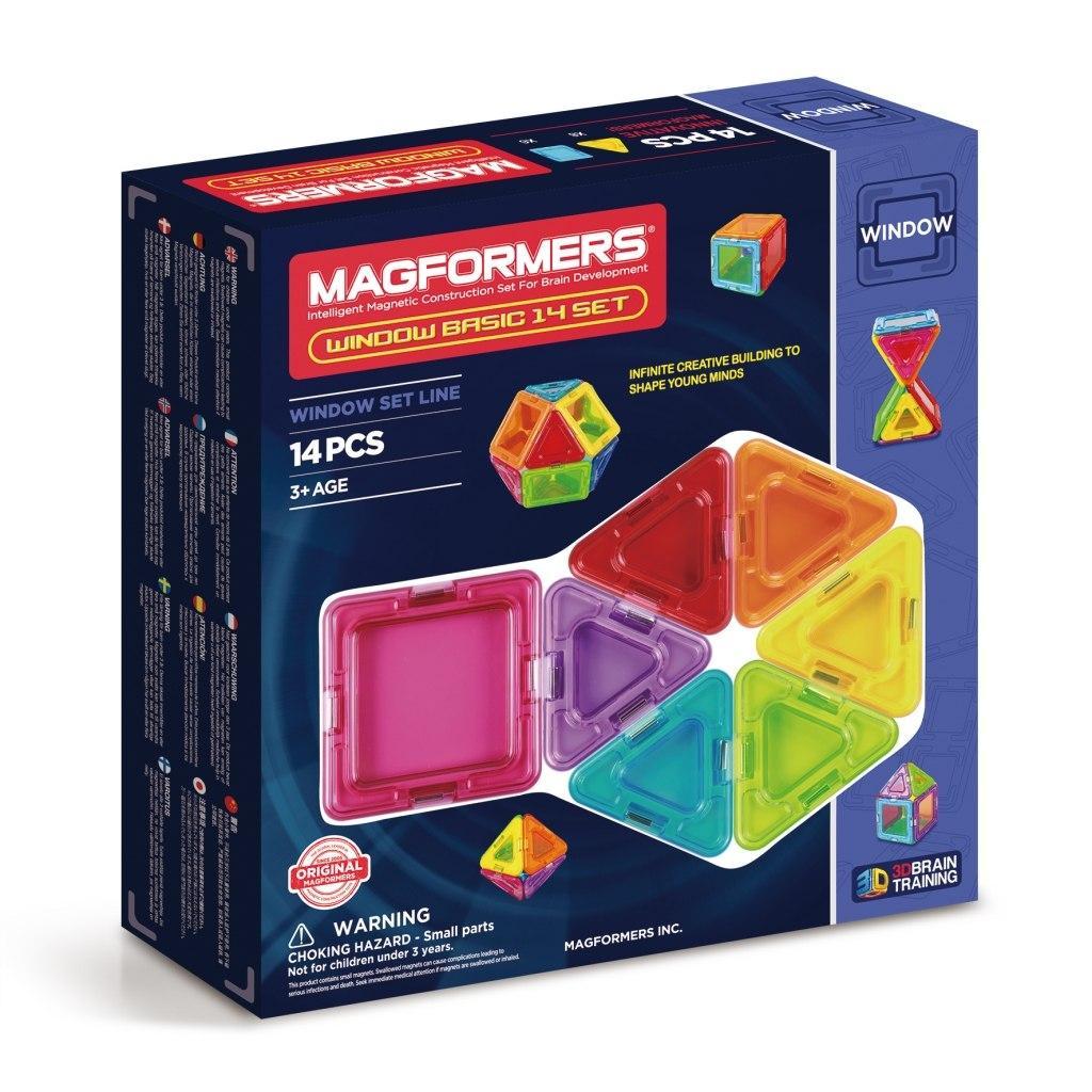 Купить Магнитный конструктор MAGFORMERS 714001 Window Basic 14 set, Китай