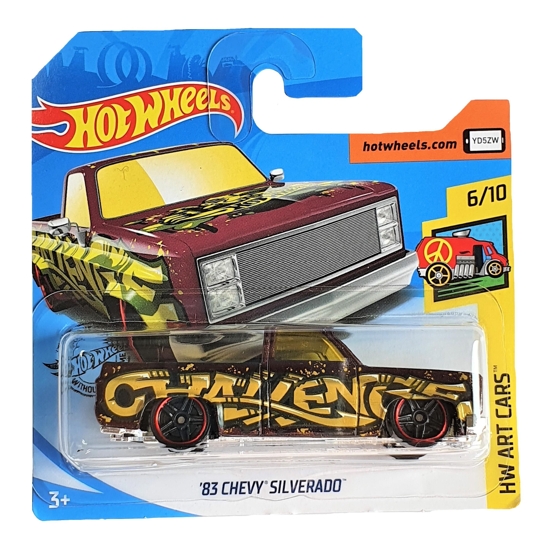 Купить Hot Wheels® Базовая машинка 83 Chevy Silverado из серии HW Art Cars , Китай