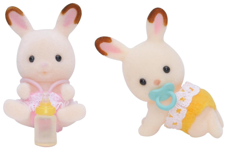 Купить Sylvanian Families Шоколадные Кролики-двойняшки - игровой набор фигурок, Китай
