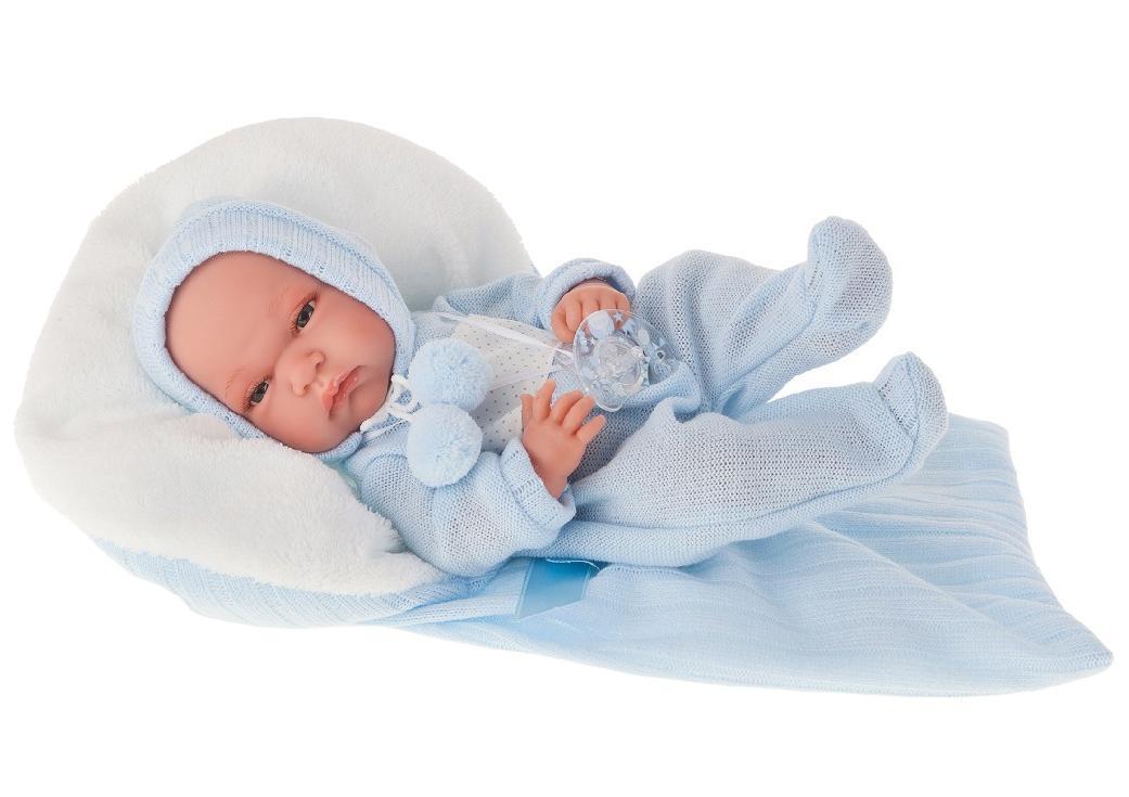 Antonio Juan Кукла-младенец Диана в голубом, 33 см