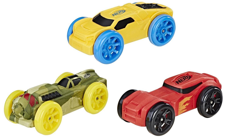 Купить Hasbro Nerf Nitro Машинки 3 шт - жёлтый, красный, зелёный комуфляж , Китай
