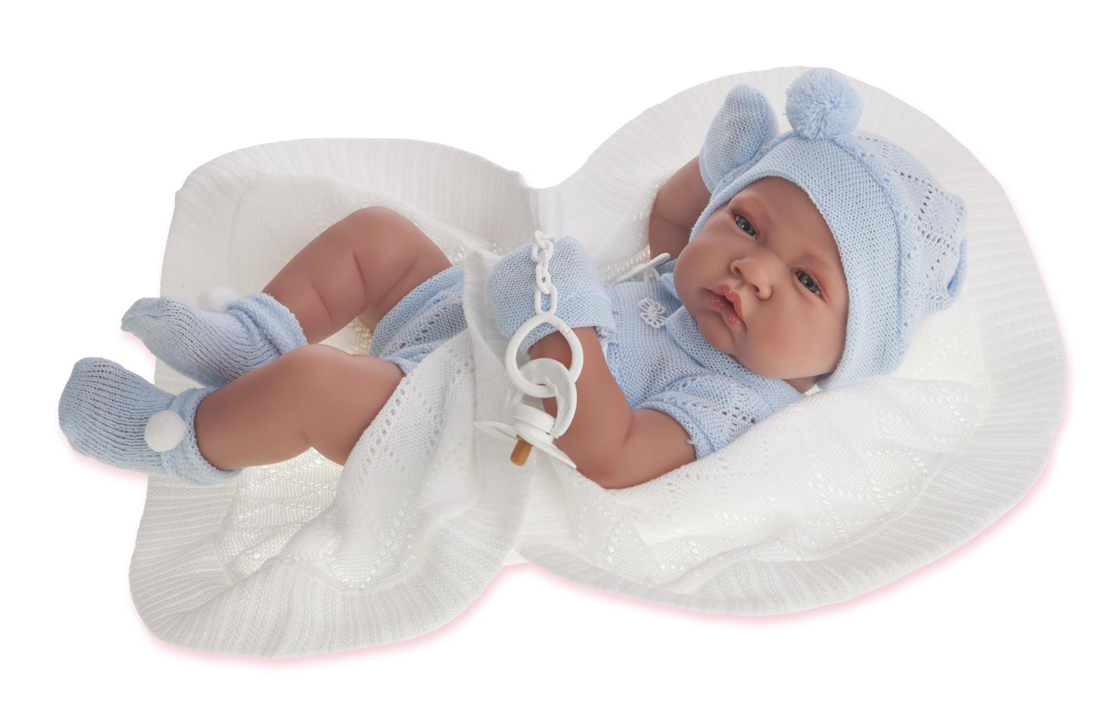 Antonio Juan Кукла-младенец Тони (мальчик) в голубом,42см