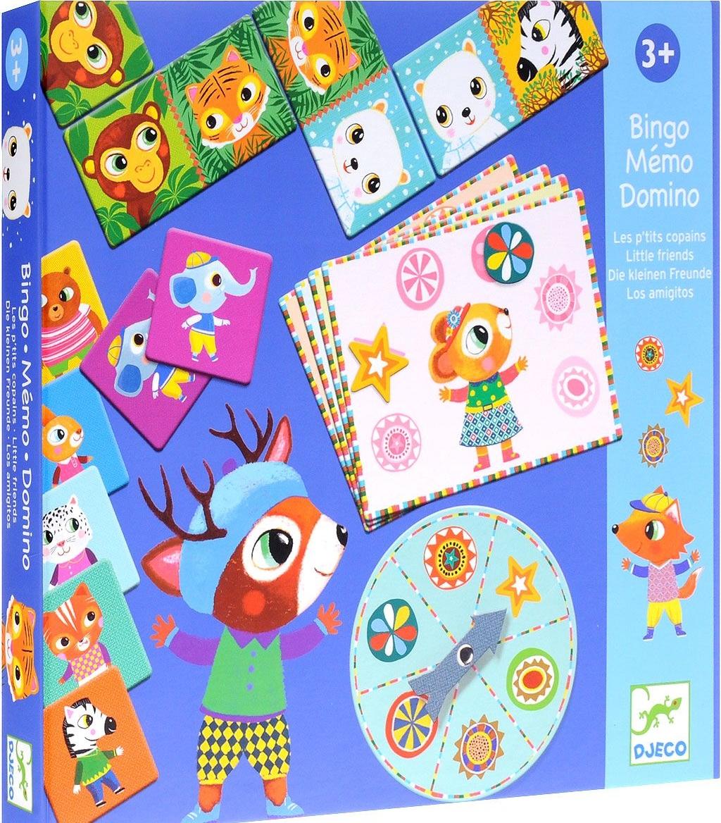 Купить DJECO Бинго, мемо, домино 08131 - набор настольных игр, Китай