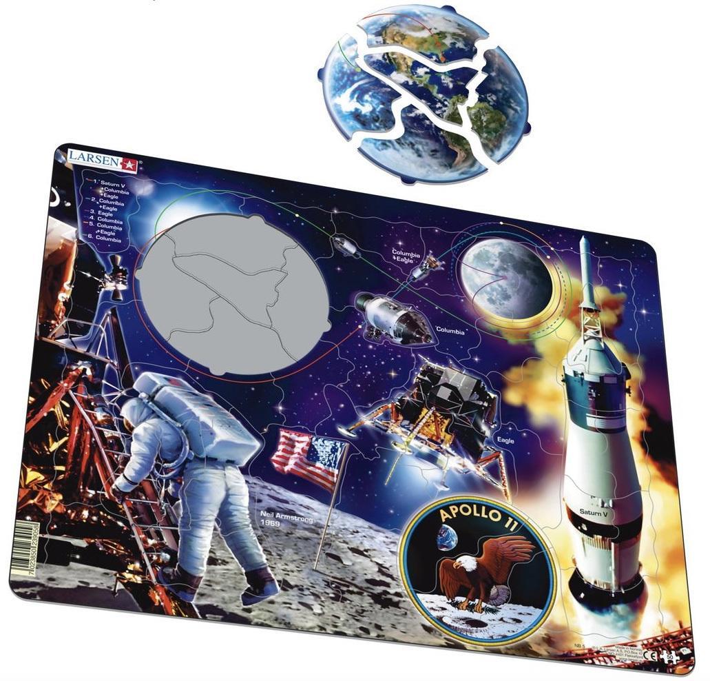 Купить Пазл Larsen «Аполло 11» 50 деталей, Норвегия