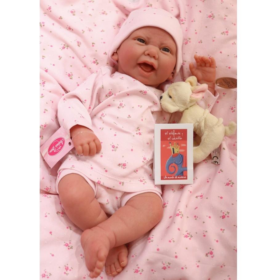 """Antonio Juan """"Кукла Реборн младенец в Фуенсанта розовом 40см 8120P"""""""