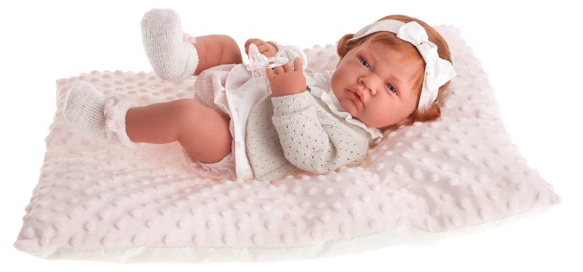 Antonio Juan Кукла-младенец Розарио в розовом, 42 см