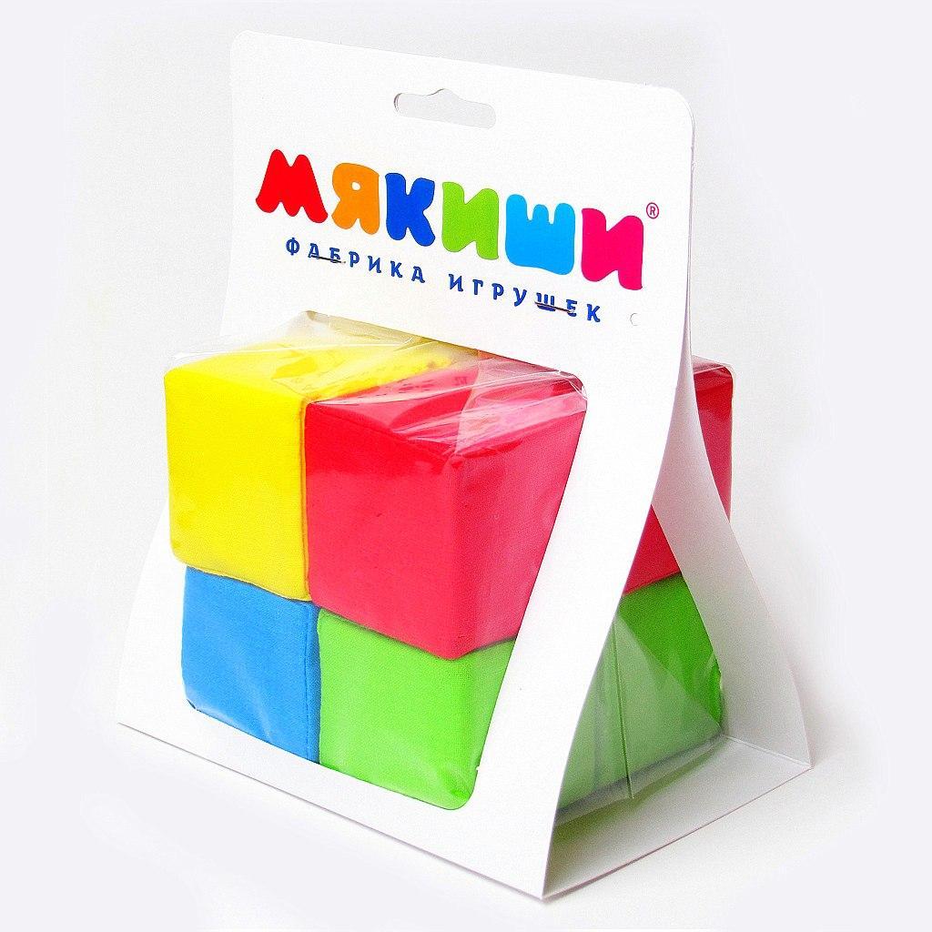 Купить Кубики МЯКИШИ 332 4 цвета, Мякиши, Россия