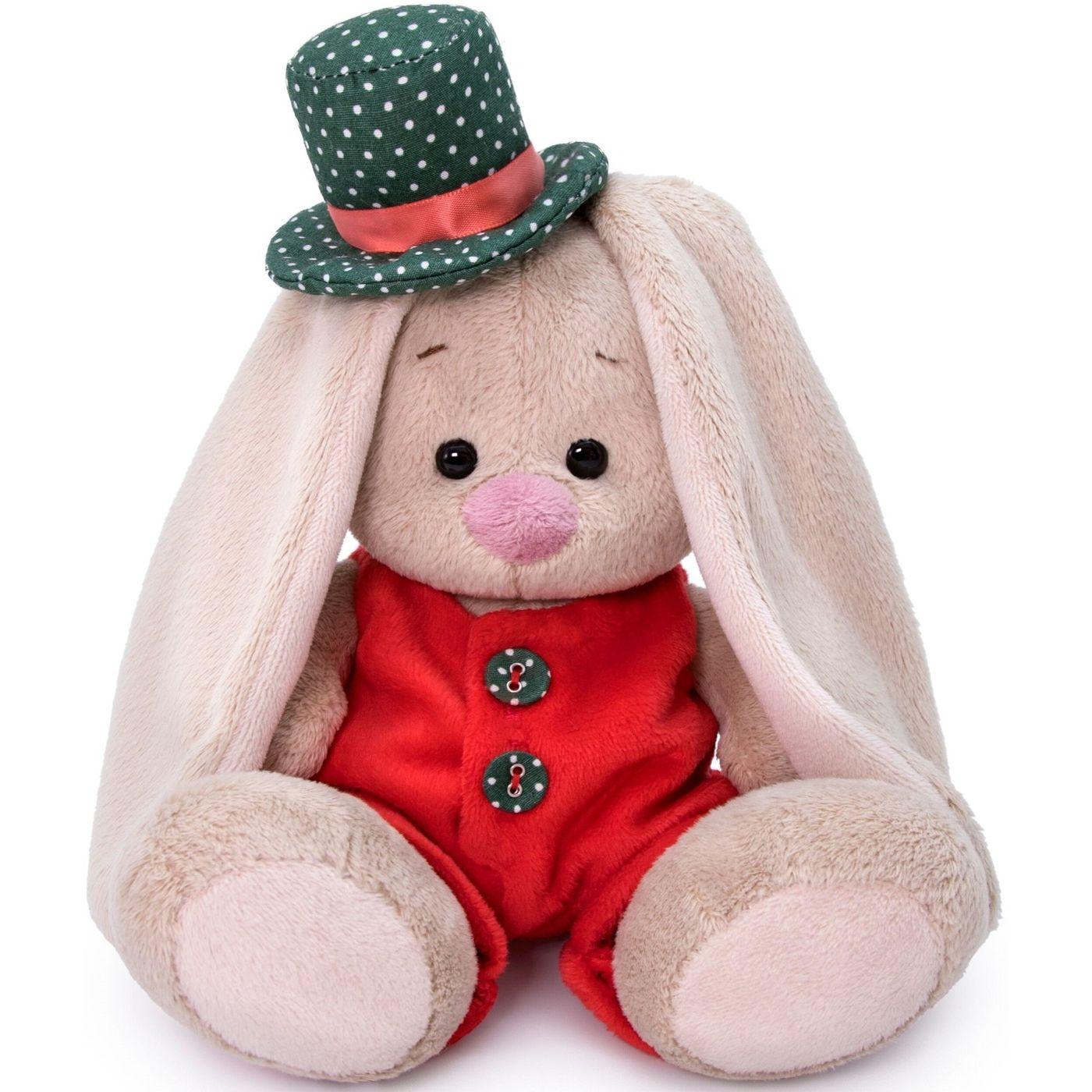 Купить BUDI BASA Мягкая игрушка Зайка Ми в красном меховом комбинезоне, 15 см, SidX-349, Россия