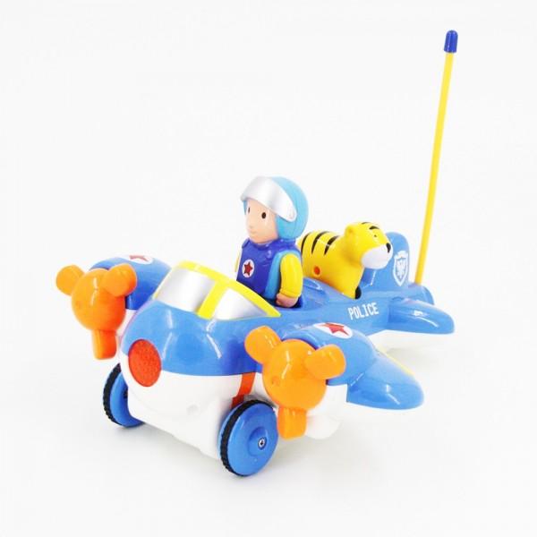 Купить JakMean Cartoon Airplane - 6609 - Детский радиоуправляемый синий самолетик, Китай