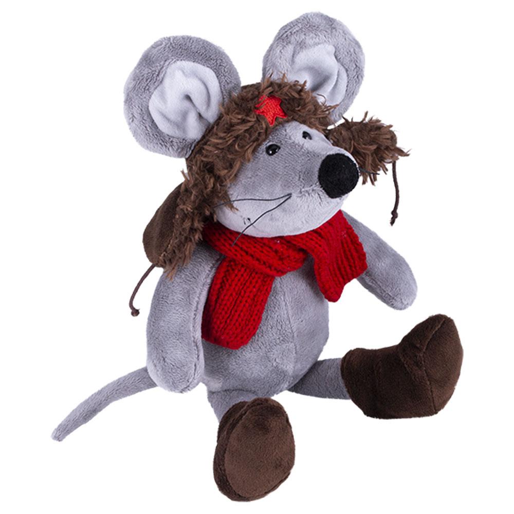 Купить AURORA Мягкая игрушка Мышь в ушанке , 36 см, Китай