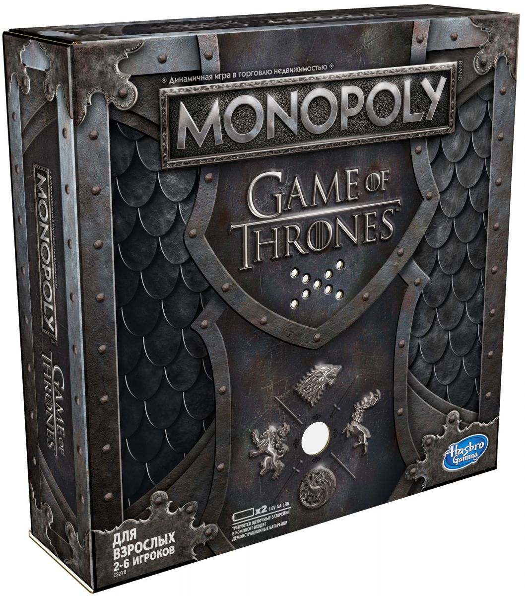 Купить Monopoly E3278 Игра настольная Монополия ИГРА ПРЕСТОЛОВ , Hasbro Gaming, Индонезия