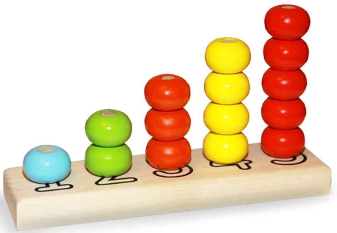 """Alatoys """"Пирамидка - Счеты"""" - деревянная игрушка"""