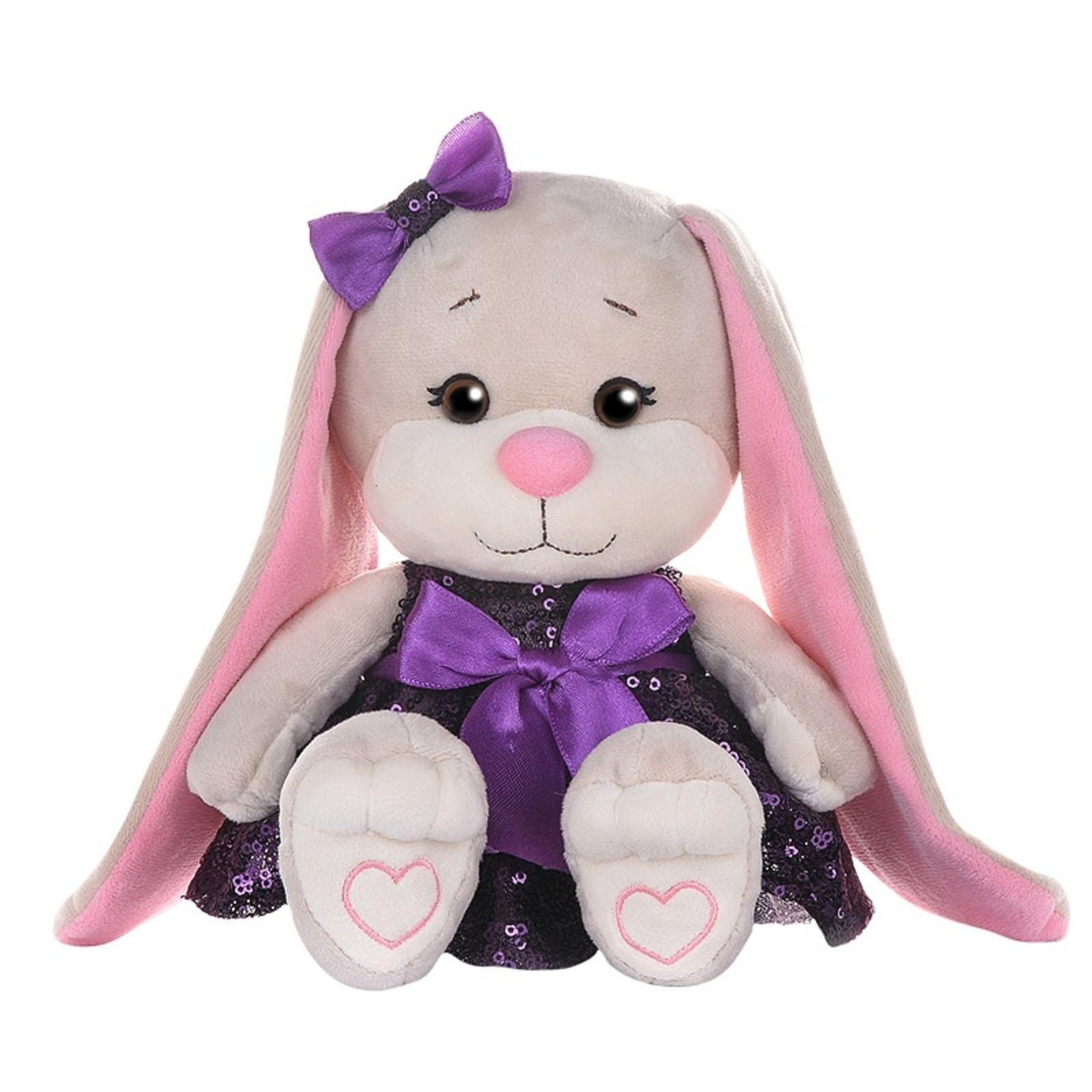 Купить Jack&Lin Мягкая игрушка Зайка в платьице с пайетками , 20 см, Китай