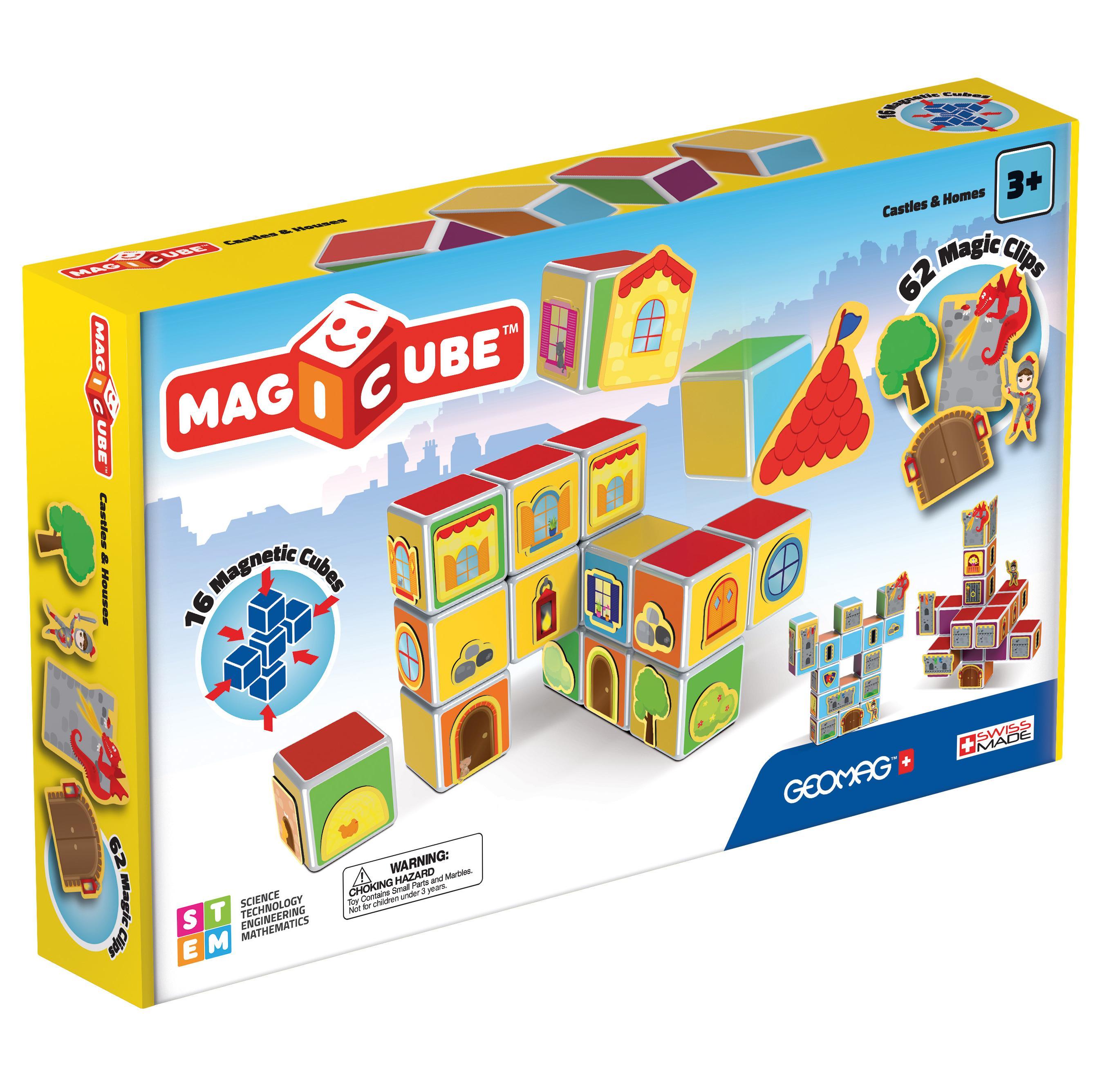 Купить Geomag Магнитный конструктор MagiCube Замки и дома , 78 деталей, Швейцария