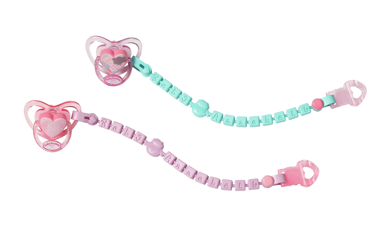 "Baby Annabell ""Соска с цепочкой розовая с зеленой цепочкой"""