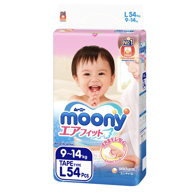 Купить Moony Подгузники L (9-14 кг), 54 шт, Япония