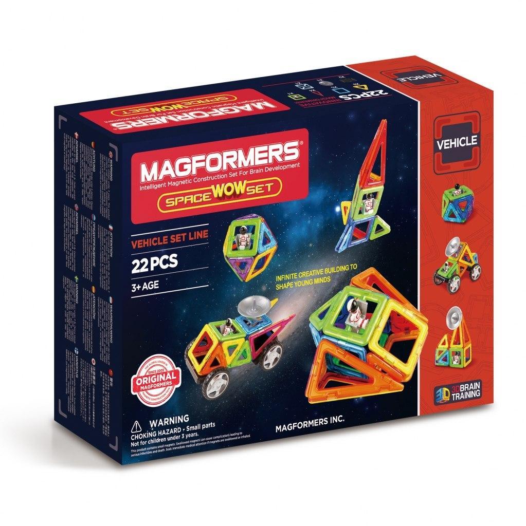 Купить Магнитный конструктор MAGFORMERS 707009 Space Wow Set, Китай