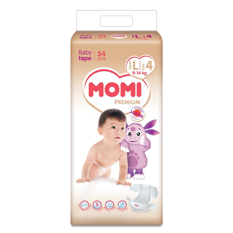 Купить MOMI Premium Подгузники L ( 9-14 кг), 54 шт, Китай