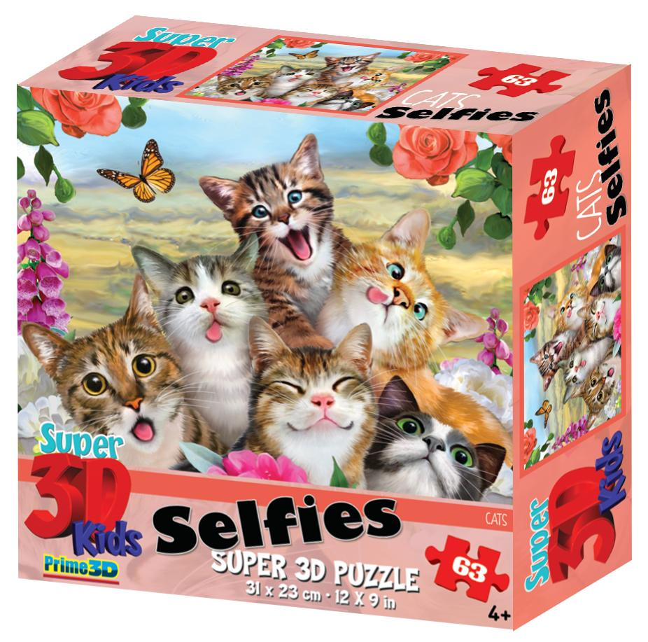 Купить PRIME 3D Кошки селфи 13634 - 3D пазл, Китай