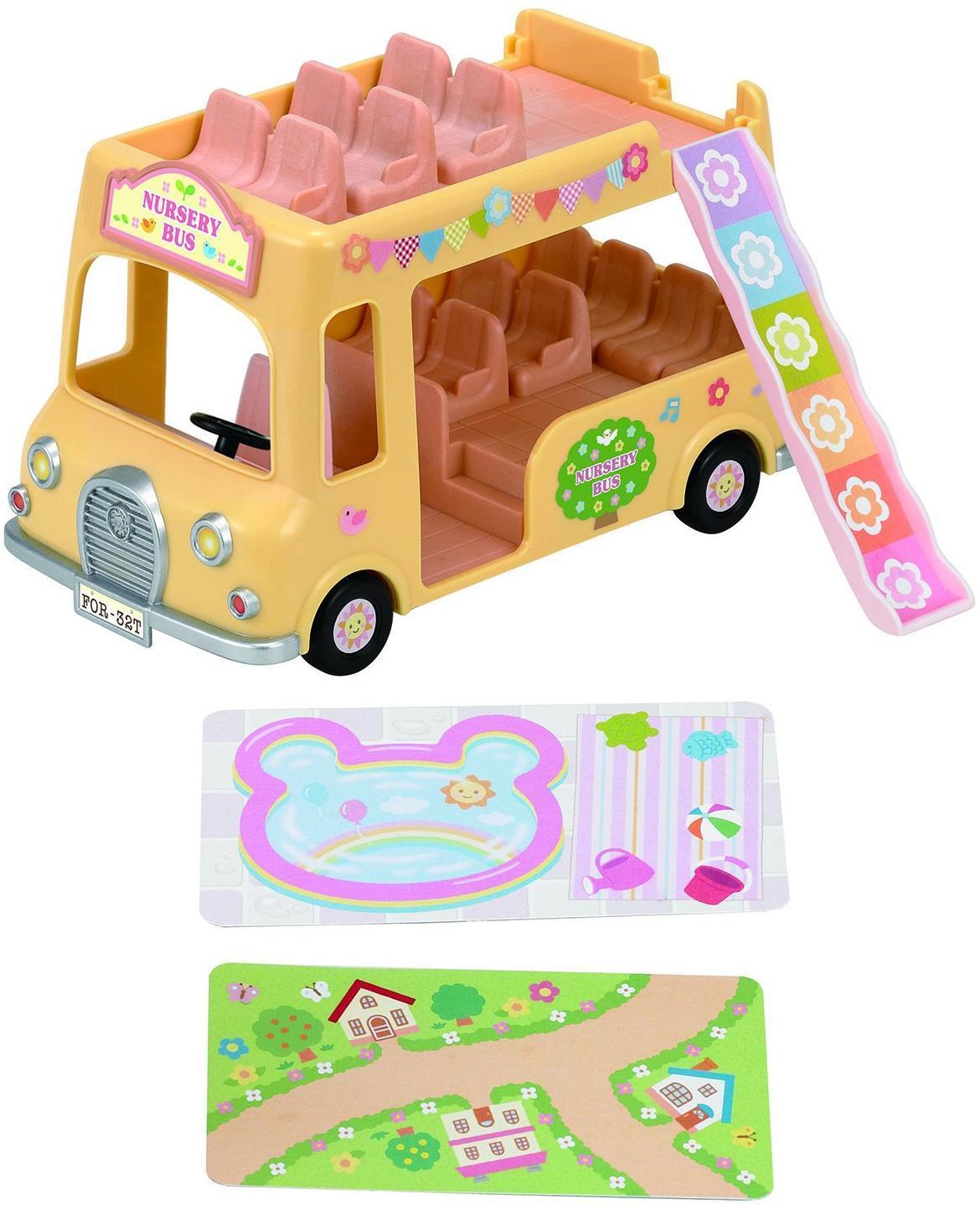 Купить Игровой набор Sylvanian Families Двухэтажный автобус для малышей, Китай