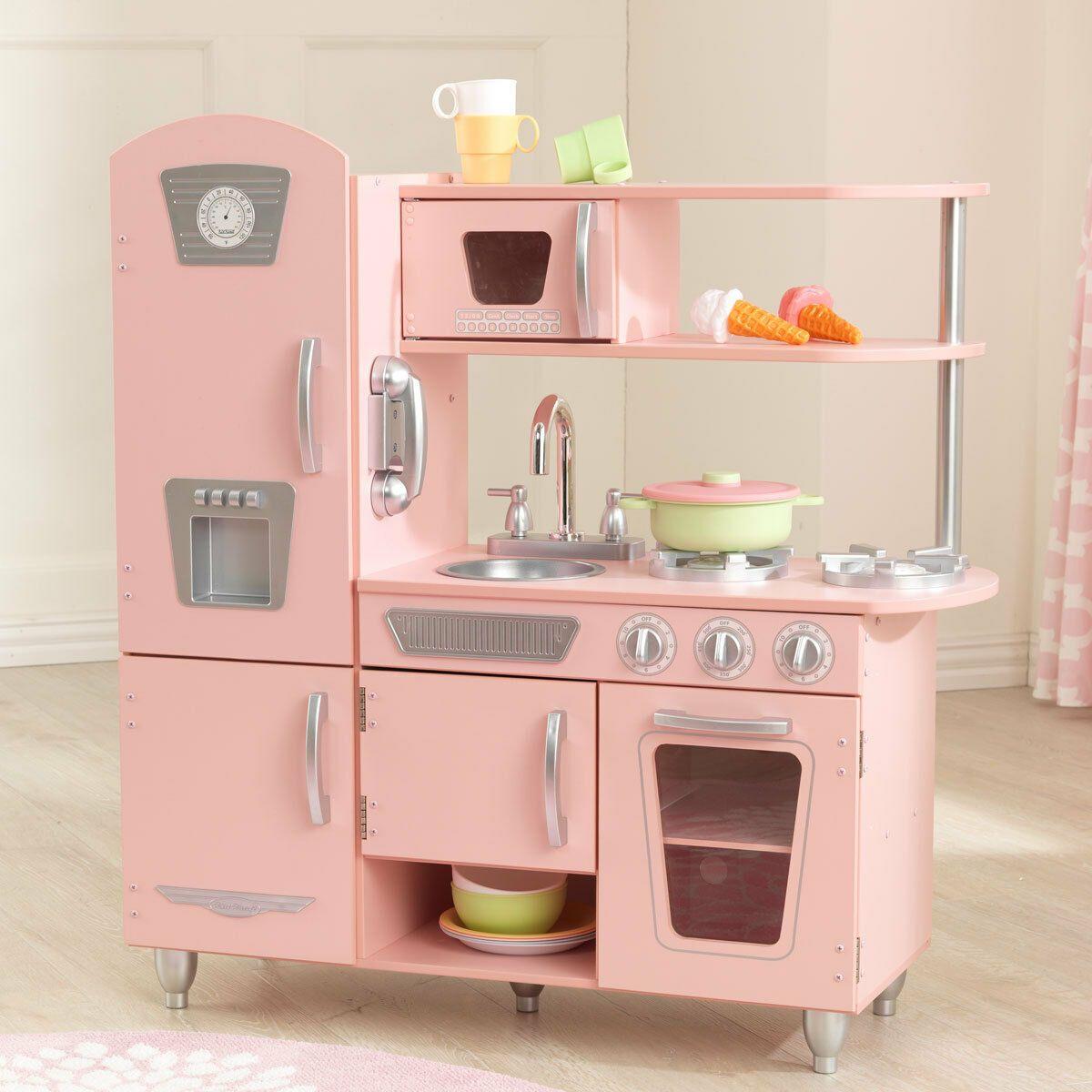 Купить KidKraft Игровая кухня из дерева Винтаж , розовая, КНР