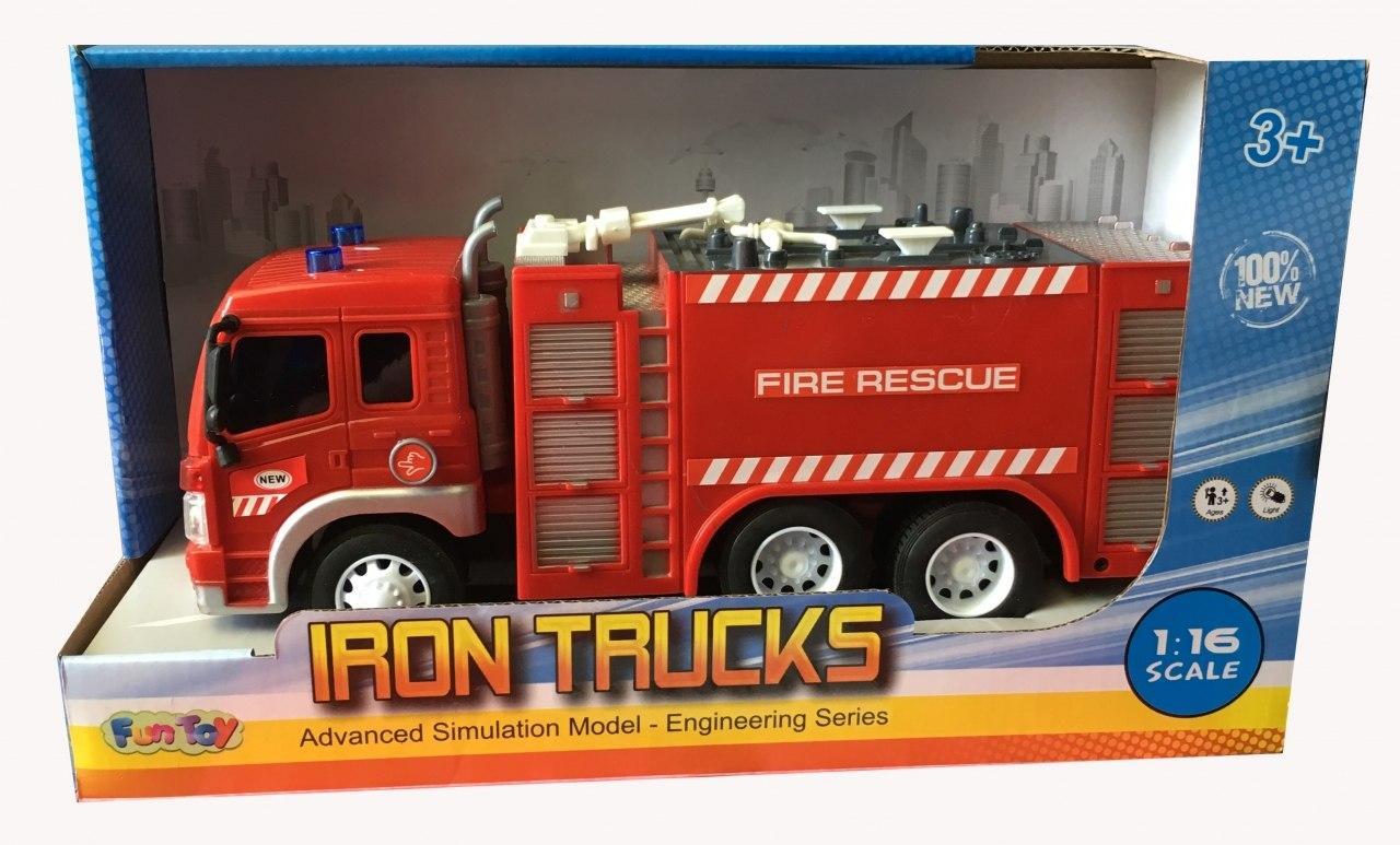 Купить Машина пластиковая FUN TOY 44404/6 Машина пожарная, Китай