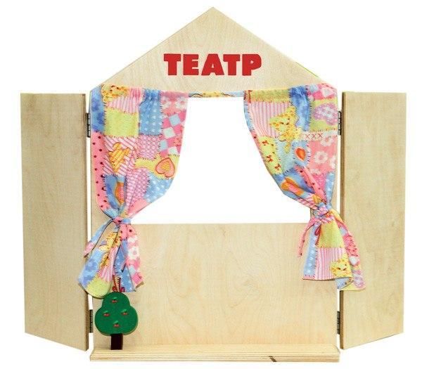 Купить Набор КРАСНОКАМСКАЯ ИГРУШКА Н-18 Ширма для кукольного театра, Краснокамская игрушка, Россия