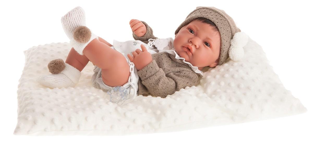 Antonio Juan Кукла-младенец Белен в белом, 42 см