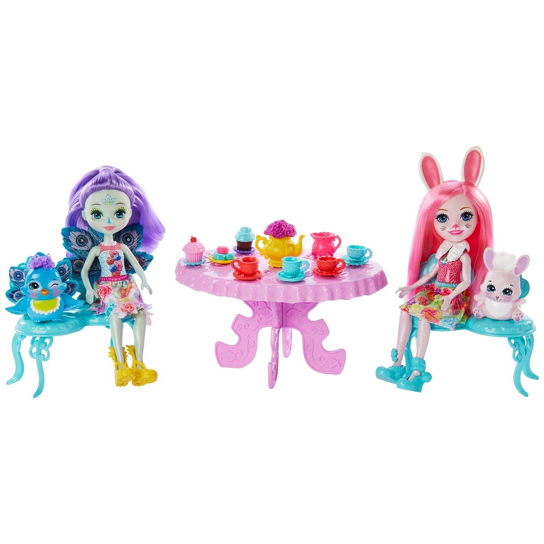 Купить Игровой набор Enchantimals Чаепитие Пэттер Павлины и Бри Кроли , Китай