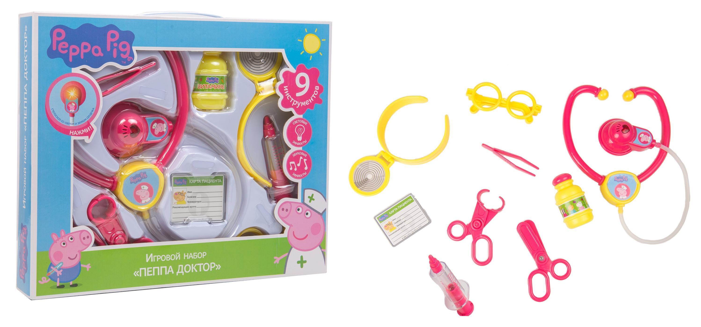 Купить Игровой набор Пеппа-доктор ТМ Свинка Пеппа : 9 предметов, звук, свет, Peppa Pig, Китай