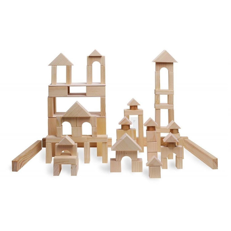 Купить Paremo Конструктор деревянный 85 деталей, неокрашенный, в деревянном ящике, Россия