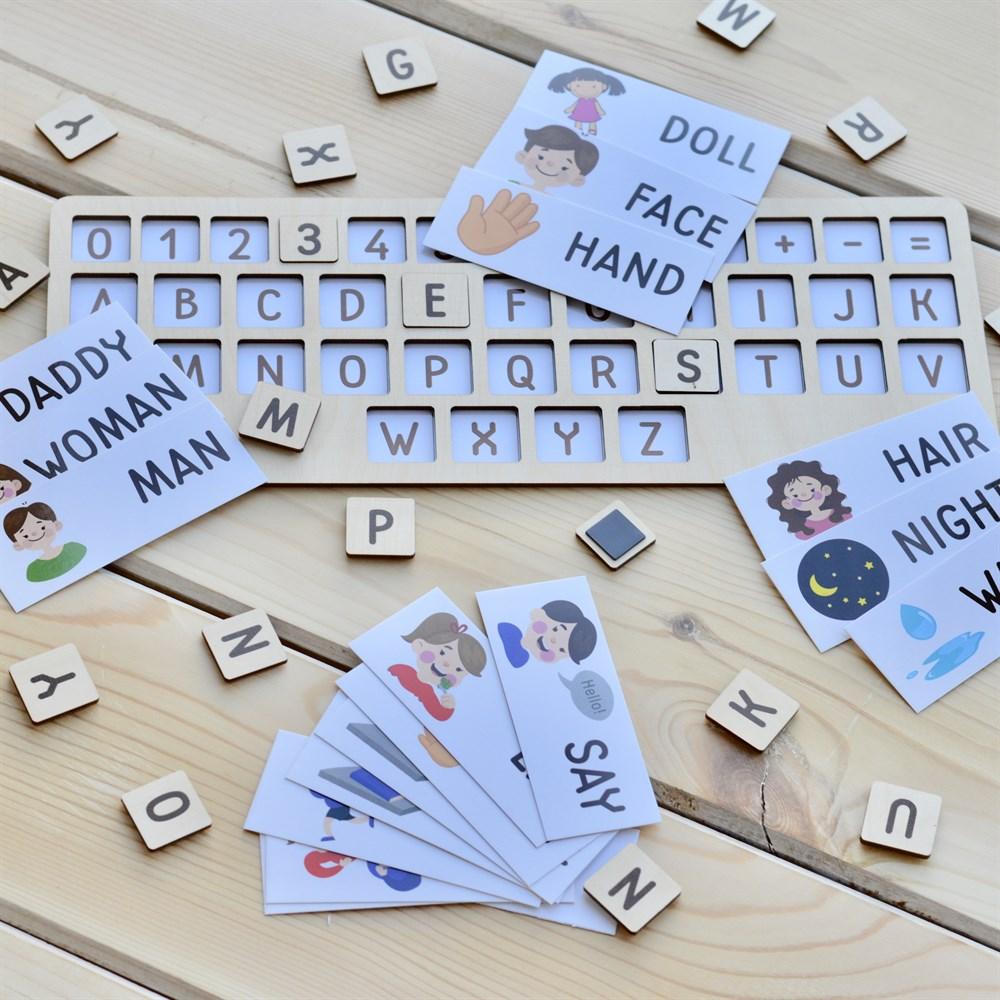 Купить Raduga Kids Английская раскладка для ноутбука и 40 карточек , Россия