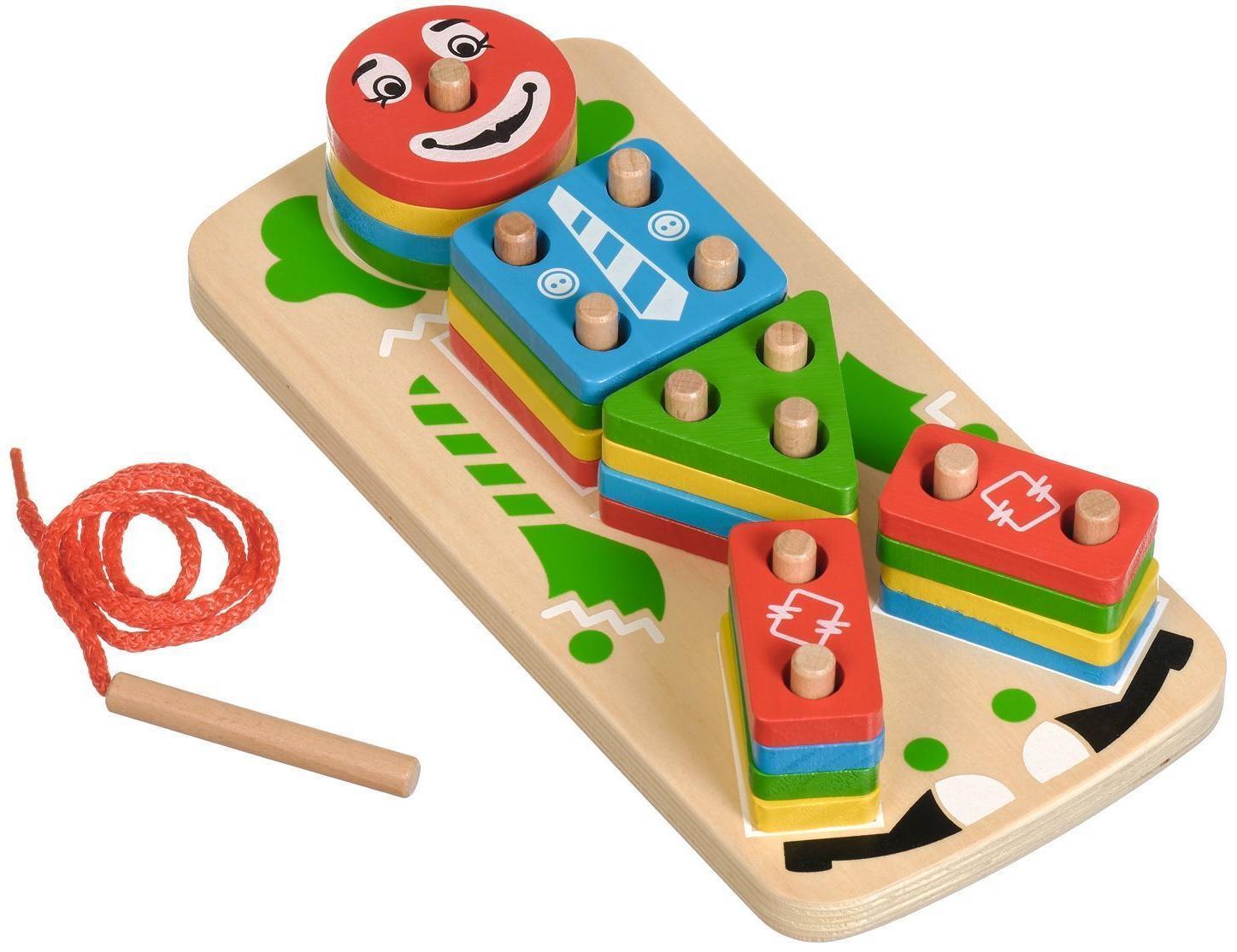 Купить МДИ Клоун | Д224 - деревянный сортер-пирамидка, Мир деревянных игрушек, Китай