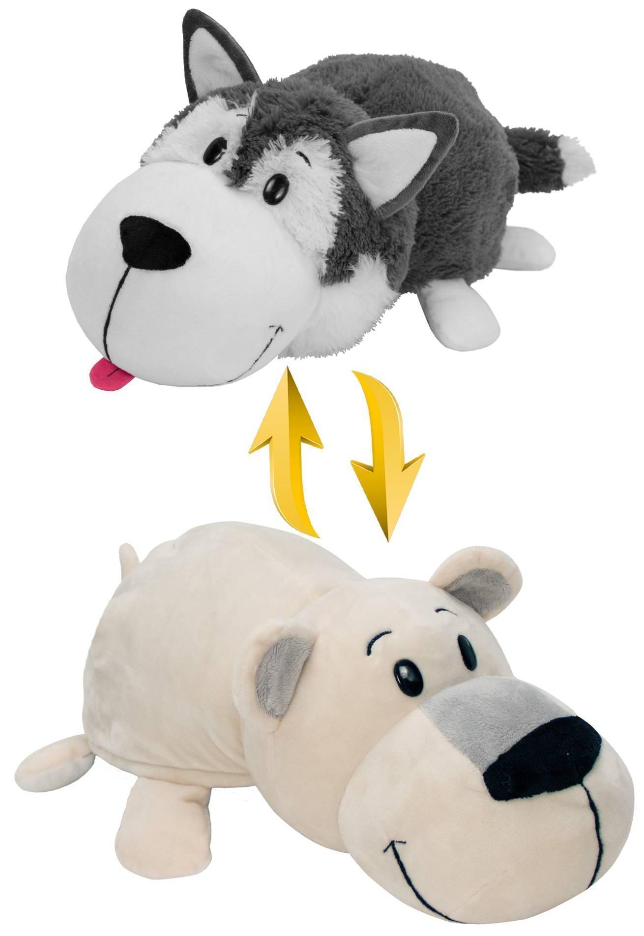 Купить 1Toy Хаски-Полярный медведь - 20 см - мягкая игрушка вывернушка, Вывернушки 1Toy, Китай