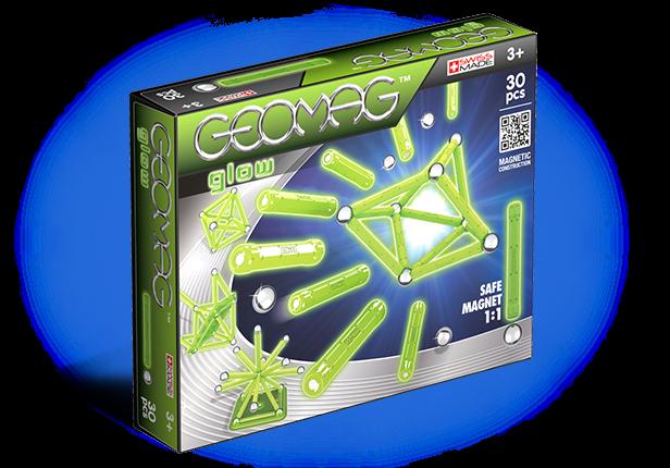 Купить Магнитный конструктор GEOMAG 335 Glow 30 деталей, Швейцария
