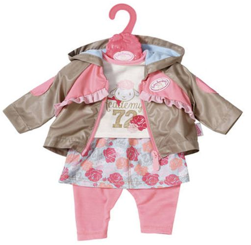 """Baby Annabell """"Костюм тройка бежево-розовый в цветочек 701-973/2"""" -  Одежда для прогулки"""