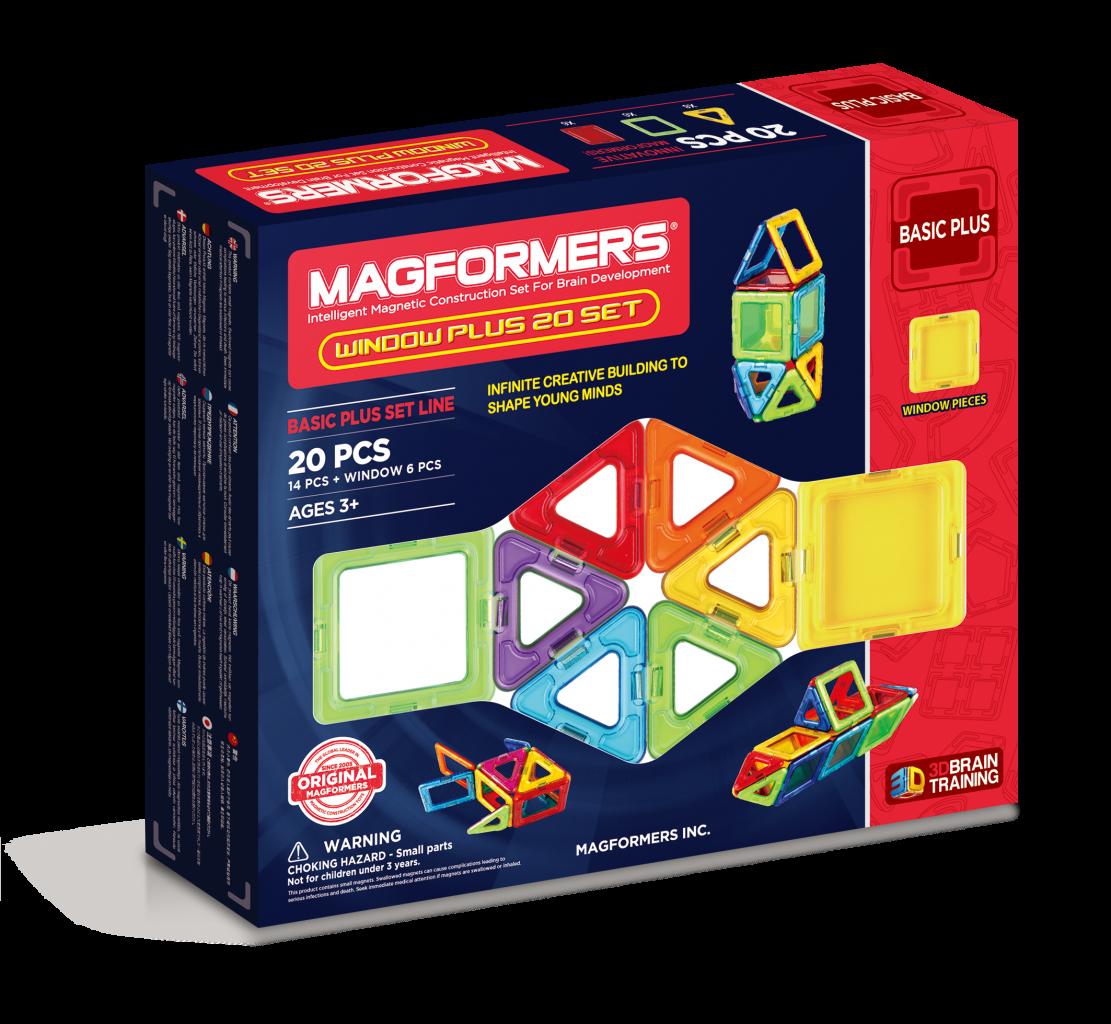 Купить Магнитный конструктор MAGFORMERS Window Plus Set 20, Китай