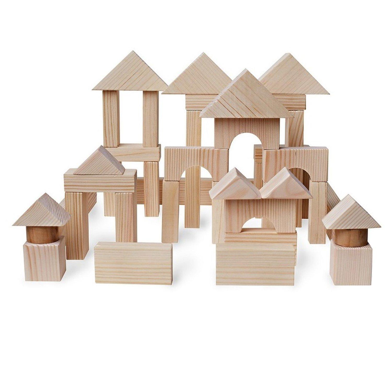 Купить Paremo Конструктор деревянный 51 деталь, неокрашенный, в пакете, Россия