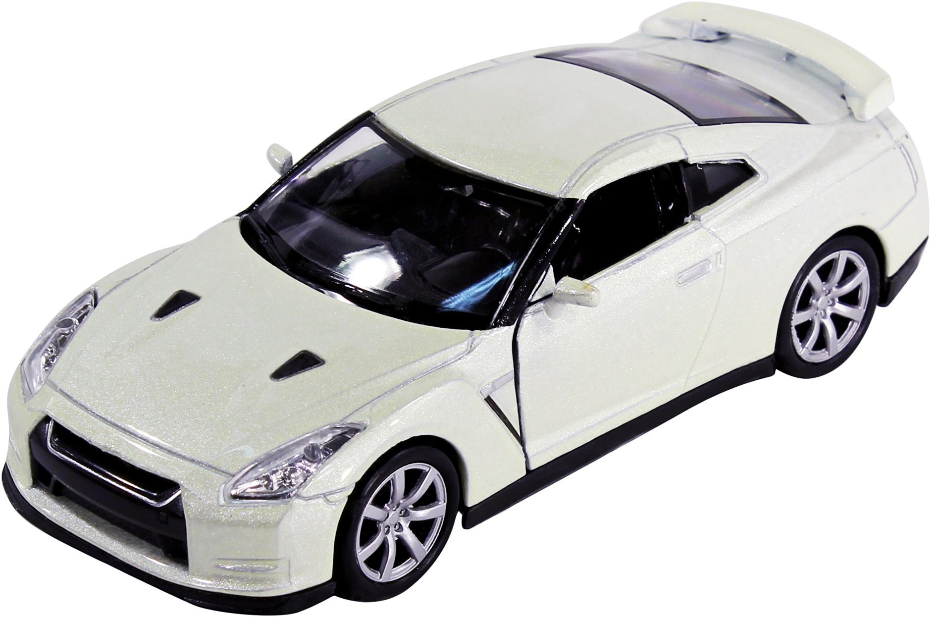 Купить Welly Nissan GTR - модель машины 1:34-39, белая, Китай
