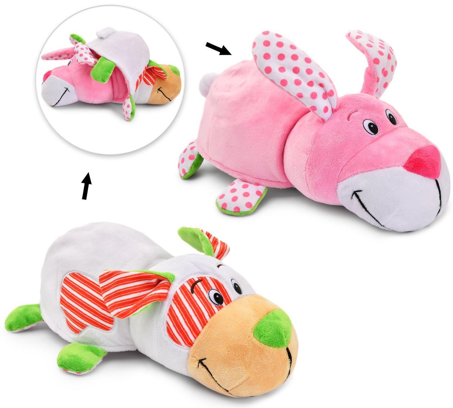 Купить 1Toy Зайчик - Собачка с ароматом Ням-Ням - 35 см - игрушка вывернушка, Вывернушки 1Toy, Китай